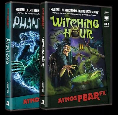 WITCHING HOUR & PHANTASMS AtmosFEARfx Video Projection DVD Halloween Decoration