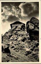 Finsterbergen Thüringer Wald alte DDR Postkarte 1955 Hütte auf dem Hainfelsen