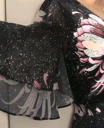 Stunning nero next con Satin in nera stampa stampato 10 Tg Feel nuovo shirt T FrqgFxz