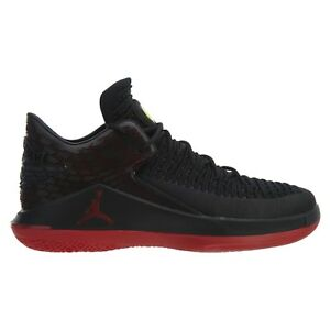 c60663e6e3ceb4 Air Jordan XXXII 32 Low Last Shot Mens AA1256-003 Black Gym Red ...