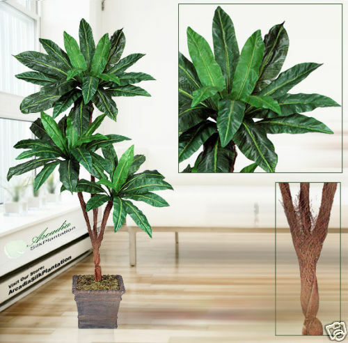 6' Bird Nest  x3 Artificial Palm Tree Silk Plant _ New, with No Pot