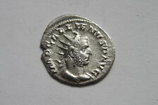 ANCIENT ROMAN GALLIENIUS SILVER ANT COIN 3rd CENT AD PAX PEACE