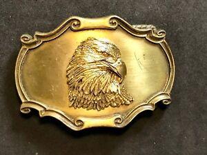 Vintage-1978-Rain-tree-American-Bald-Eagle-bust-head-3d-Belt-Buckle