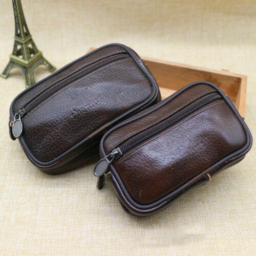 Men Sport Zipper Belt Holster Leather Waist Case Pack Pouch Holder Bag Hiking