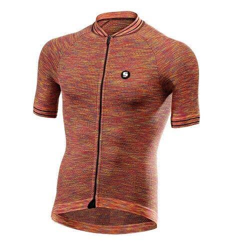 Maglia Maglietta Jersey T-shirt Bike Bici Ciclismo SIXS MELANGE FIRE CLIMA JERS.