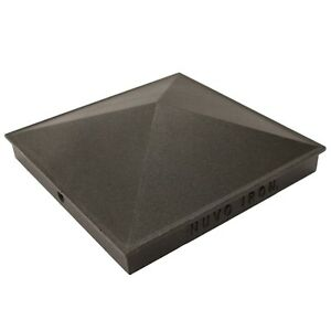 Black Aluminium Pyramid Pcp16 Iron Nuvo Post 8 Cap Ornamental