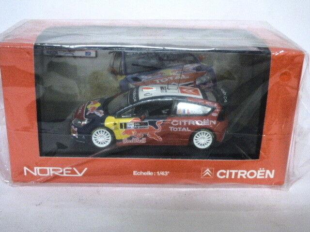 Norev Citroen C4 WRC silverina 2008 Loeb Elena  REF 155419