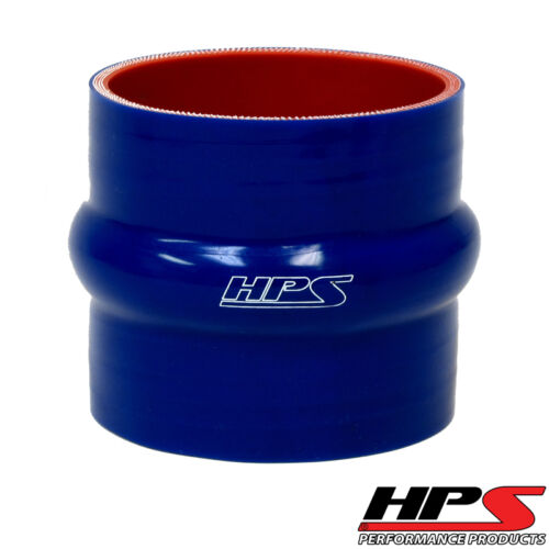 """HPS 1.62/"""" ID x 3/"""" Long 4-ply Silicone Hump Coupler Hose Blue 41mm x 76mm Length"""