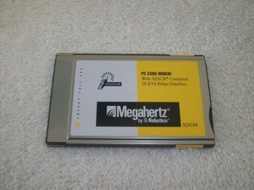 Megahertz XJ4288 PCMCIA Cellular Modem with XJACK Connector 28.8//14.4 Data Fax