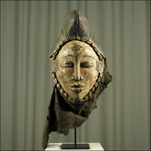 59664-Afrikanische-Punu-Holz-Maske-Gabun-Afrika-KUNST
