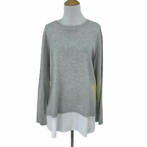 Lisa Todd Dot Sweater Shirting Hem Women's Size 1X Crew Neckline Relaxed Fit