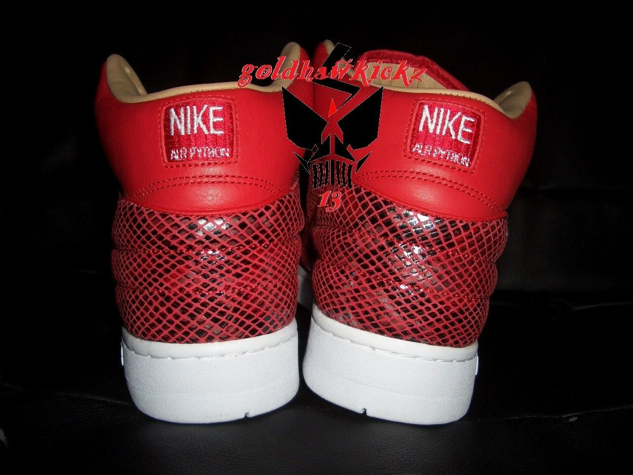 a0542128140b ... Nike Air Python Retro SP SP SP Lux Leather University Red White  632631-601 snake ...