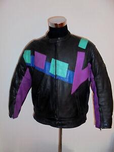 JOSEPH-JOY-Motorradjacke-80s-Bikerjacke-Leder-oldschool-vtg-motorcycle-jacket-M