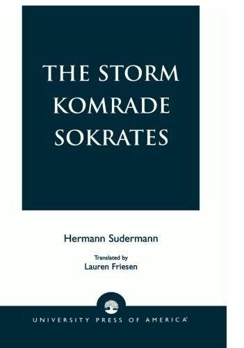 Very Good, The Storm Komrade Sokrates, Sudermann, Hermann, Book