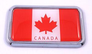 Canada-Canadian-Flag-rectanguglar-Chrome-Emblem-3D-Car-Decal-Sticker-3-034-x-1-75-034