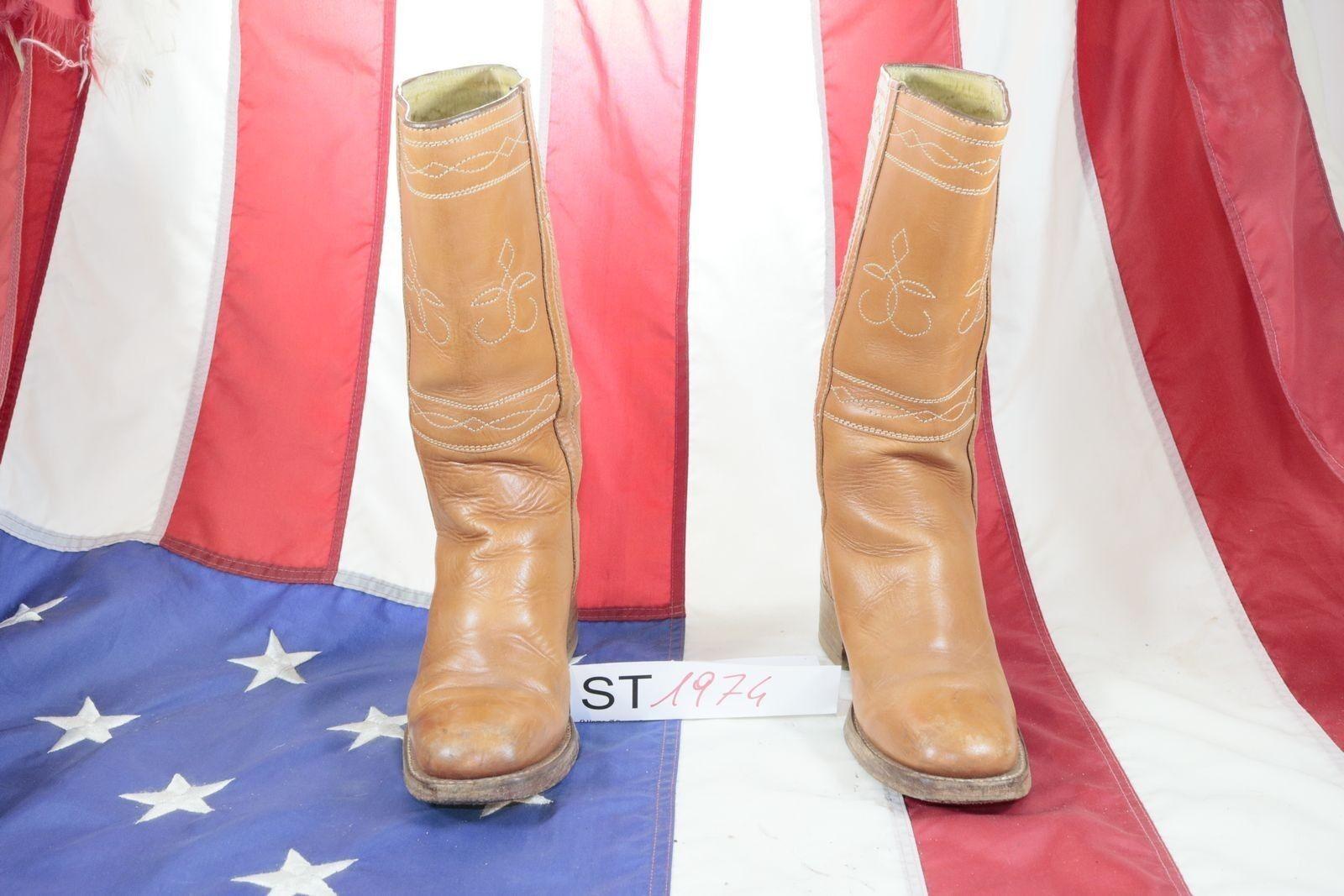 Boots CONLEY'S ( Cod. St1974) Used N.37 Ladies Brown Leather Cowboy Western