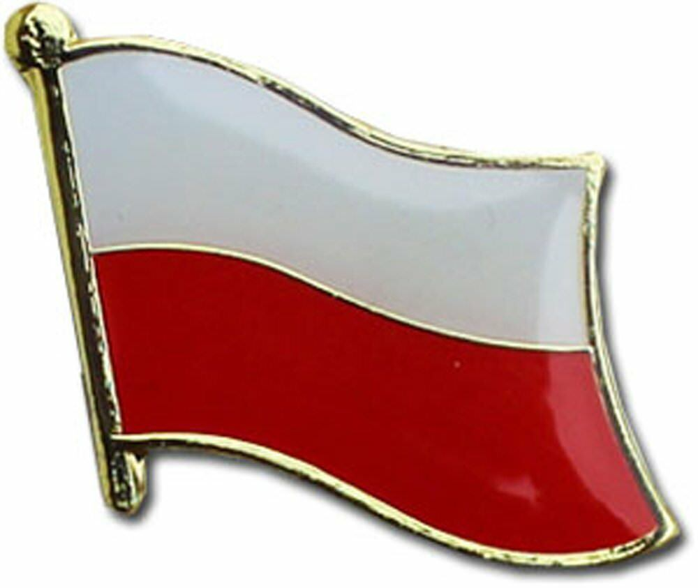 Wholesale Pack of 50 Poland Country Flag Bike Hat Cap lapel Pin