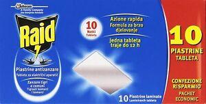 RAID-PLAQUETAS-ANTIMOSQUITO-LOS-MOSQUITOS-TIGRE-10-PCS-PAQUETE-BARATO-PICADURAS