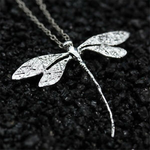 925-Silver-Wedding-Party-Dragonfly-Necklace-Pendant-Chain-Jewelry-Gift-Retro