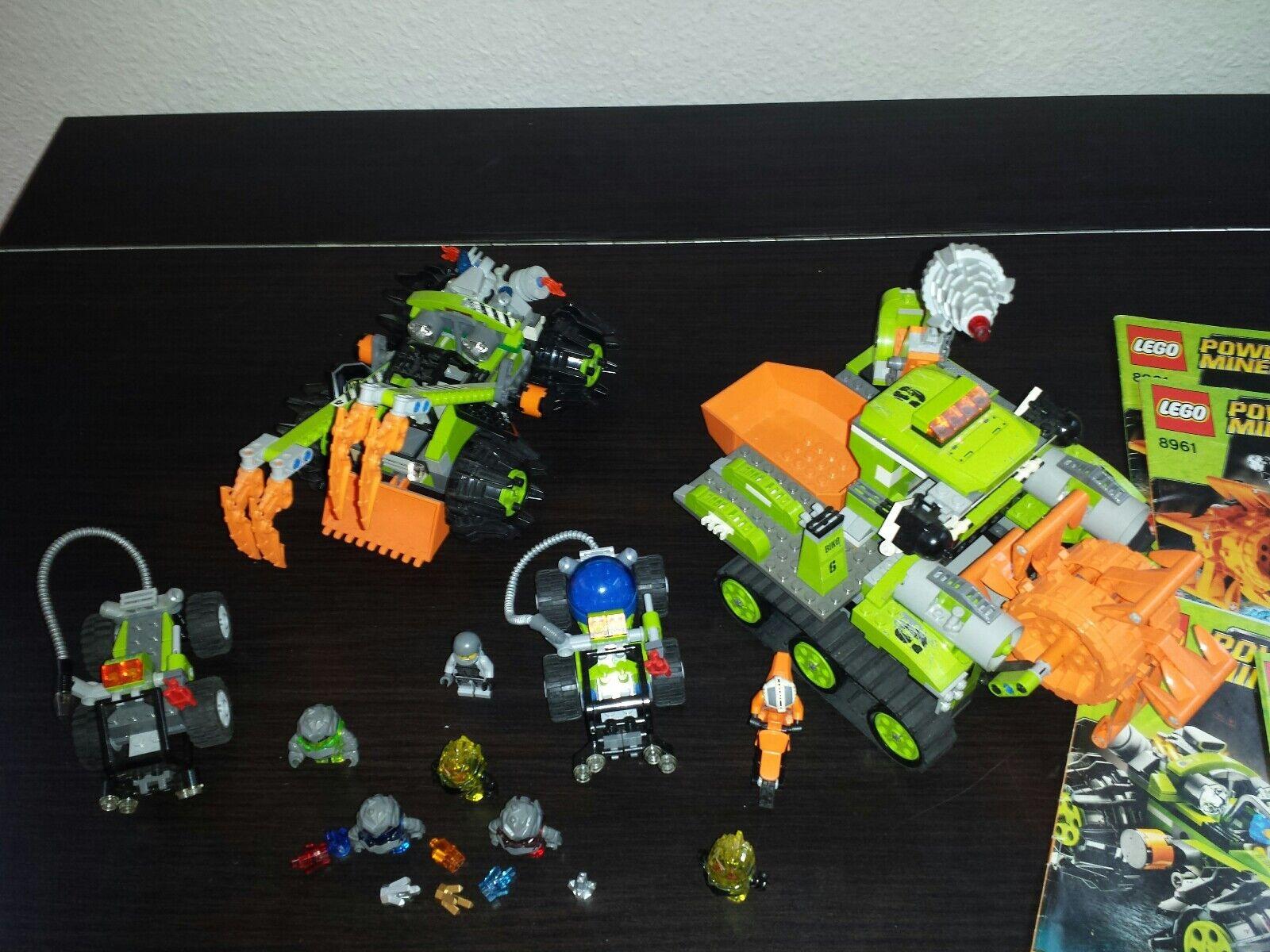 LEGO POWER MINERS 8961 8959 und 2x 8188 mit mit mit Figuren und Anleitung 97490d