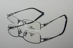 Designer Half Rimless Pure Titanium Optical RX Eyewear ...