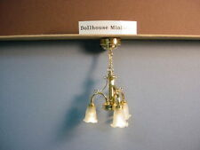 1:12 Scale Miniature LED Table Light Lamp with Battery Operated Dollhouse Decor