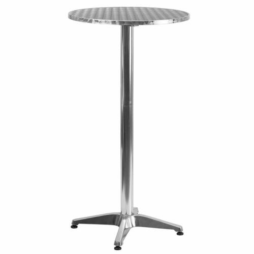 Bar Height Dining Table Pub Round Tall Folding Indoor Outdoor Patio Metal Party