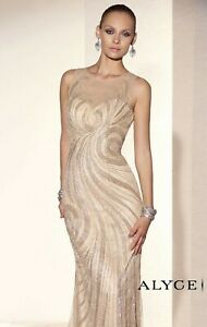 NWT-ALYCE-5672-champagne-beaded-formal-gown-Size-12