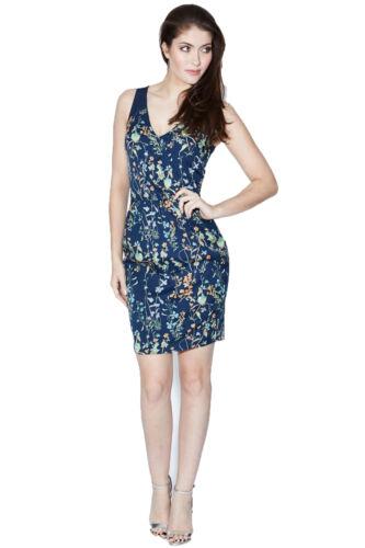 Bleu 16 Boutique Vert Dress Botanical 10 Sugarhill Floral Ajusté Orange wxCYXdqZ