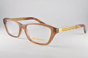 67ef93ed9307 Tory Burch Eyeglasses TY 2058 1517 Light Brown/Gold, Size 53-16-135 ...