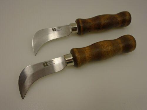 2 Roofing Knives Hook End 86797 Long Blade 2 7//8 in 17 Gauge Wood R Murphy Set