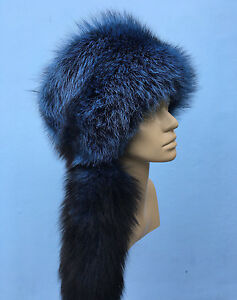 Silver Fox Fur Pillbox Hat Saga Furs Regular Women/'s Size Fur Hat