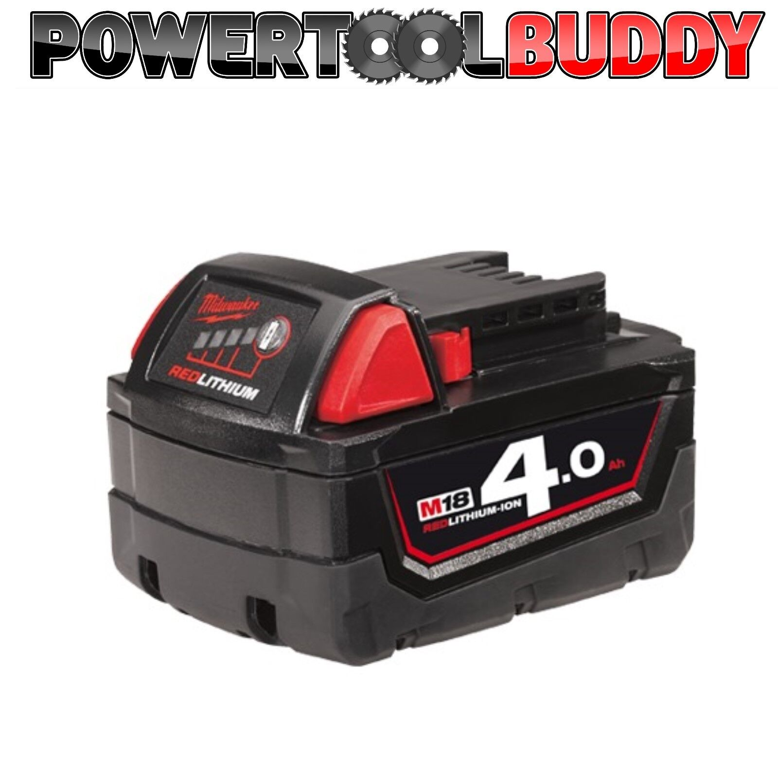 Milwaukee M18B4 18volt 4ah Li-ion rot Battery NEXT DAY DELIVERY B5