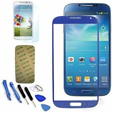 Blue Replacement Screen Glass Lens Tool Kit For Samsung Galaxy S4 i9500 i9505