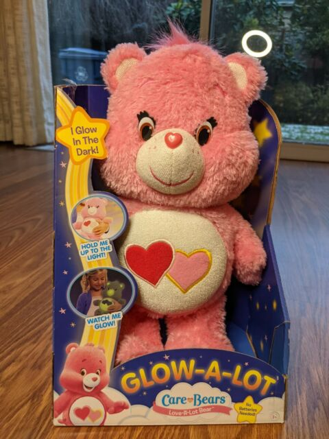 Care Bears Glow A Lot Bedtime Love a lot Plush Night Light Valentine's day