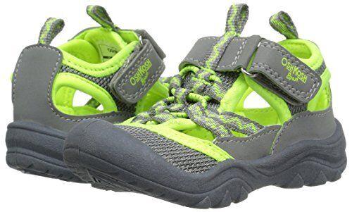 97b38462f2 Oshkosh B'gosh HAX Toddler Boys Sandals Water Shoes Size 11 Grey Yellow for  sale online | eBay