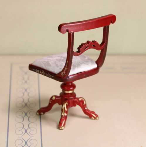 """Red Mahogany Harp Chair MUSEUM QUALITY DOLLHOUSE FURNITURE 1//12  1/"""" Scale BESPAQ"""