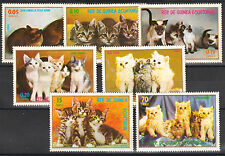 Kittens Cats set of 7 mnh stamps Equatorial Guinea 1970s