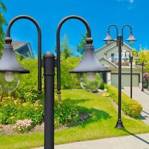 lampadaire d 39 ext rieur lampe sur pied noire clairage de sol r verb re 142221 ebay. Black Bedroom Furniture Sets. Home Design Ideas