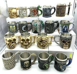 Skull-Bones-Tankard-Drinking-Coffee-Cup-Gothic-Decorative-Mug-Gifts