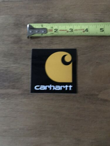 "Carhartt Logo Sticker//Decal  Orange//Black Clothing Camp Fish Outdoor Approx 3"""
