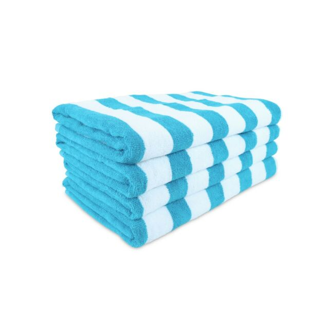 Lot of 6 Pacific Polo Club 100/% Cotton 30X60 Cabana Pool Beach Towel