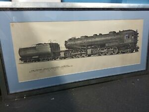 Framed-Drawing-of-US-Southern-Railroad-Cab-Forward-Loco