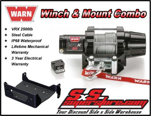 2009-2019 Kawasaki Mule 4000//4010 2500lb WARN VRX 25 Winch Mount Combo