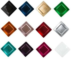 13 in. Square Charger Plates 4/pack, Wedding Party Decor, 12 Colors ...