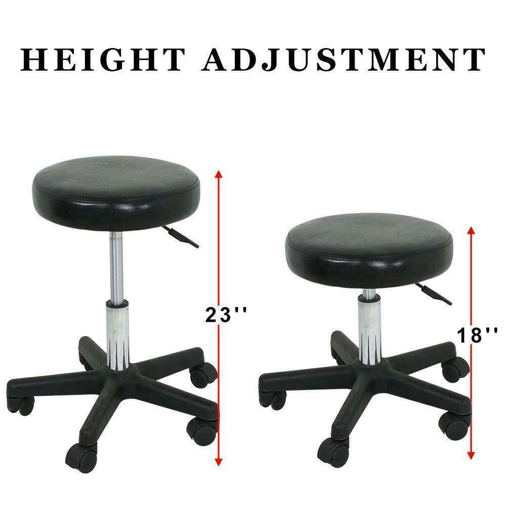2PCS 360° Rotation Adjustable Height Salon Stool Hydraulic Rolling Office Chair Health & Beauty