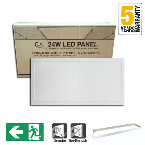 600 x 300mm LED Panel Dimmable Emergency & Surface Mounted ✔Warm ✔Cool ✔Daylight