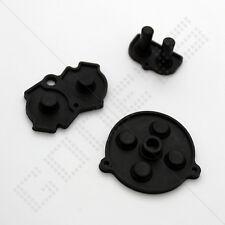 New Black Nintendo Game Boy Advance GBA Rubber/Silicone Conductive Button Pads