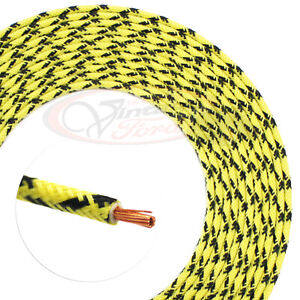 Details about Vintage Car Truck Wire Cloth Automotive 8FT Hot Rod Yellow on