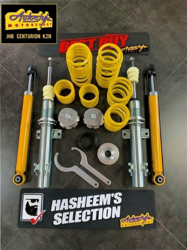 FK coil over kits available, lowering springs, shocks etc. drop your suspension. Jom range also avai